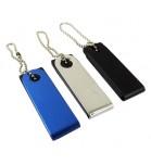 Mini Pen Drive Giratório Metal e Plástico