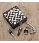 Kit Vinho 4 peças com Jogo de Xadrez