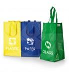 Conjunto de 3 Sacolas para Reciclagem